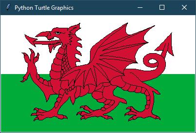 Flag drawing with Turtle · Random kit